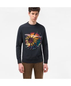 Paul Smith | Loopback Embroidered Peace Sunset Sweatshirt