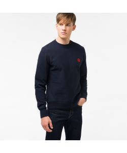 Paul Smith | Mens Embroide Ps Logo Organic-Cotton Sweatshirt