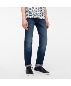 Paul Smith   Mens Tape-Fit Dark-Wash Vintage-Style Jeans