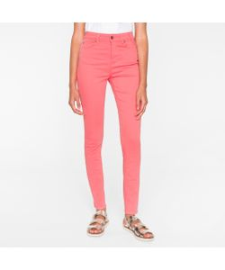 Paul Smith | Brushed Denim High-Waisted Skinny Jeans