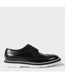 Paul Smith | Mens Leather Grand Brogues With White Soles