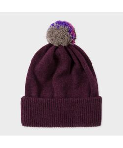 Paul Smith | Plum Knitted Bobble Hat
