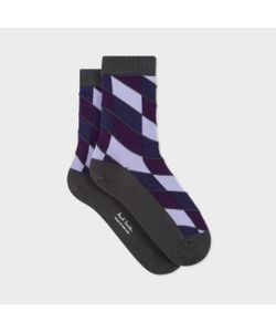 Paul Smith | Womens Diagonal Block Stripe Socks