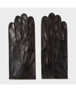 Paul Smith | Mens Leather Signature Stripe Trim Gloves