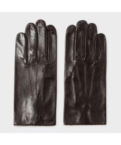 Paul Smith | Mens Leather Signature Stripe Trim Gloves