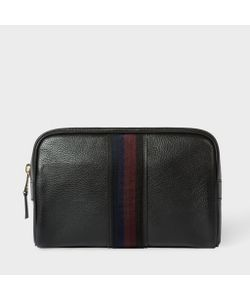 Paul Smith | Mens Leather City Webbing Wash Bag