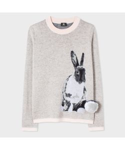 Paul Smith | Wool-Mohair Lucky Rabbit Sweater With Pom-Pom