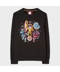 Paul Smith | Loopback Monkey Embroidered Sweatshirt