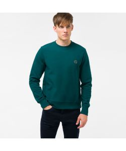 Paul Smith | Mens Embroidered Ps Logo Organic-Cotton Sweatshirt