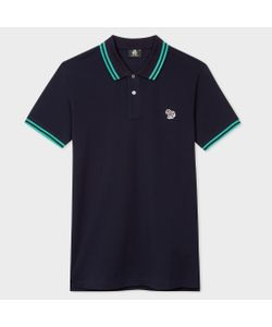 Paul Smith | Slim-Fit Zebra Logo Polo Shirt With Teal Tipping