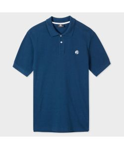 Paul Smith   Washed Embroide Ps Logo Organic-Cotton Polo Shirt
