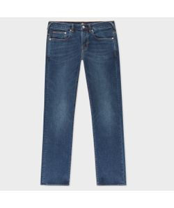 Paul Smith | Standard-Fit Mid-Wash Super Soft Cross-Hatch Stretch-Denim Jeans
