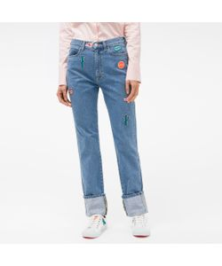 Paul Smith | Straight-Leg Turn-Up Jeans With Embroidered Patches