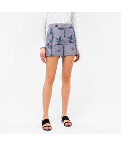 Paul Smith | Island Print Chambray Shorts
