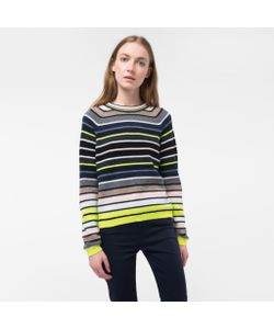 Paul Smith | Womens Mixed-Stripe Lambswool Sweater