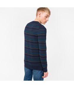 Paul Smith   Textured-Stripe Cotton-Blend Sweater