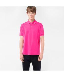 Paul Smith | Mens Cotton-Piqué Polo Shirt With Artist Stripe Placket