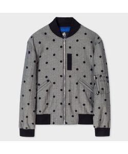 Paul Smith | Herringbone Bomber Jacket With Flocked Polka Dots