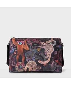 Paul Smith | Canvas Monkey Print Messenger Bag