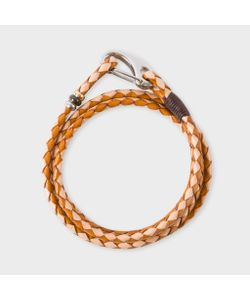 Paul Smith | Light And Dark Leather Wrap Bracelet