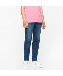 Paul Smith   Classic-Fit Dark-Wash 12oz Pepper N Salt Organic Jeans