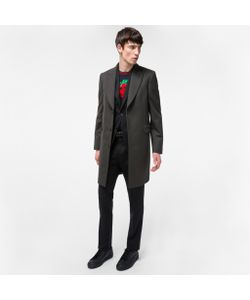 Paul Smith | Mens Dark Wool And Cashmere-Blend Peak-Lapel Epsom Coat