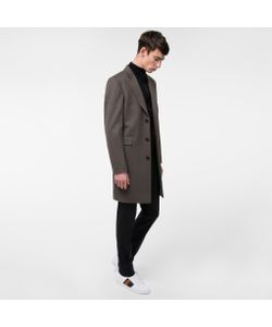 Paul Smith | Mens Wool And Cashmere-Blend Peak-Lapel Epsom Coat