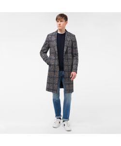 Paul Smith | Mens Wool-Alpaca Houndstooth-Check Overcoat