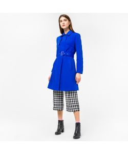 Paul Smith | Cobalt Cotton-Blend Trench Coat