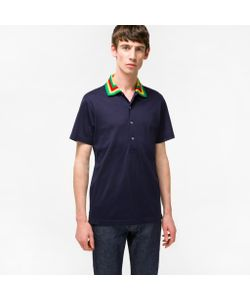 Paul Smith | Cotton-Pique Contrast-Collar Polo Shirt
