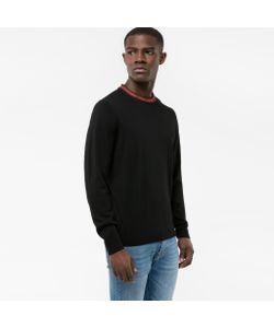Paul Smith   Merino Wool-Blend Sweater With Contrasting Collar
