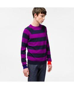 Paul Smith   And Navy Stripe Cashmere Raglan-Sleeve Sweater