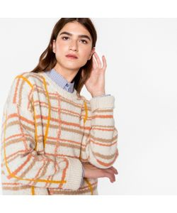 Paul Smith | Checked Textured-Yarn Wool-Blend Sweater