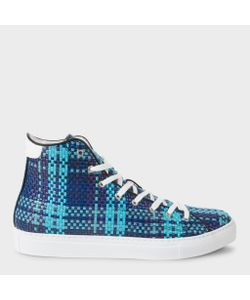 Paul Smith | Mens Woven-Check Destra Trainers