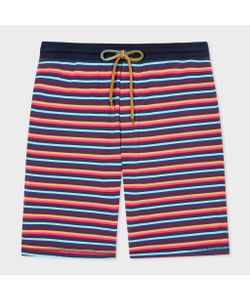 Paul Smith | Multi-Coloured Stripe Jersey Shorts
