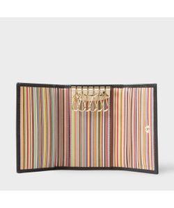 Paul Smith | Mens Leather Signature Stripe Interior Key Case