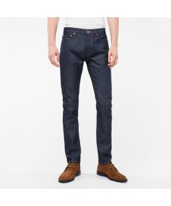 Paul Smith | Mens Slim-Fit Raw Denim Jeans With Peace Stitch Detail