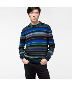 Paul Smith   Mens Mixed-Stripe Lambswool Sweater