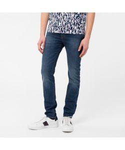Paul Smith   Mens Slim-Fit Antique-Wash Crosshatch Jeans
