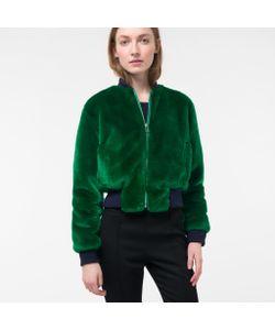 Paul Smith | Womens Faux-Fur Bomber Jacket