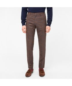 Paul Smith | Mens Slim-Fit Check Wool-Silk Trousers