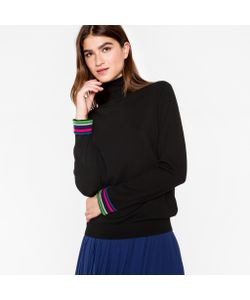 Paul Smith | Wool Roll-Neck Sweater With Cycle Stripe Cuffs