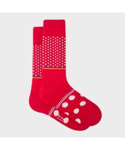 Paul Smith | Mens Diamond And Polka Dot Block Socks