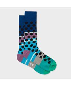 Paul Smith | Mens Multi-Coloured Spot Ribbed Socks