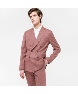 Paul Smith | Tailored-Fit Mini-Check Double-Breasted Carlo Barbera Blazer