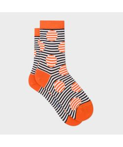 Paul Smith | And Navy Striped-Dot Socks