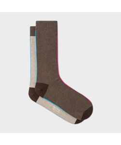 Paul Smith | And Taupe Vertical Stripe Socks