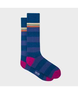 Paul Smith | Marl And Violet Stripe Socks