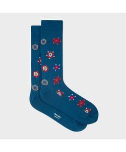 Paul Smith | Tudor Rose Motif Socks