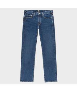 Paul Smith   Standard-Fit Mid-Wash 12oz Pepper N Salt Organic Jeans